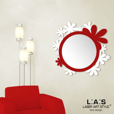 Mirrors </br> Code: SI-206Q-SP | Size: 93x87 cm </br>  Colour: white-red