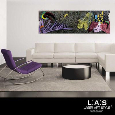 Figurative wall sculpture </br> Code: SI-130 | Size: 180x60 cm </br> Colour: multicoloured decoration-wood engraving