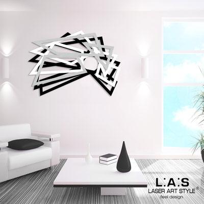 Quadri Astratti </br> Codice: SI-186 | Misura: 140x90 cm </br> Colore: nero-bianco-argento