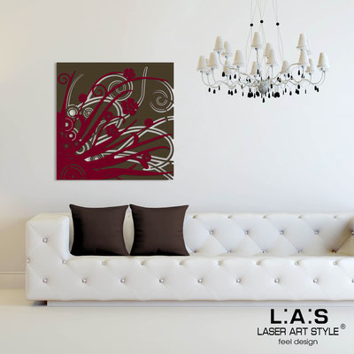 Abstract wall sculptures </br> Code: SI-107Q | Size: 90x90 cm </br> Colour: brown-burgundy