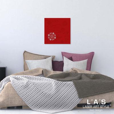 Quarantotto sacri </br> Codice: Q-T7 | Misura: 48x48 cm </br>  Colore: rosso-incisione tono su tono