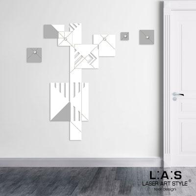 Complementi d'arredo </br> Codice: SI-366 | Misura: 90x150 cm </br> Colore: bianco-cemento-incisione legno
