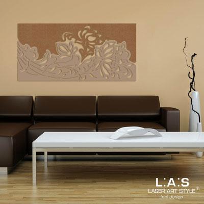 Quadri Floreali </br>  Codice: SI-163SS   Misura: 180x90 cm </br>  Colore:  bronzo-nocciola