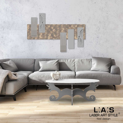 Abstract wall sculptures </br> Code: SI-353 | Size: 150x100 cm </br> Colour: light stone decoration-concrete grey-wood engraving