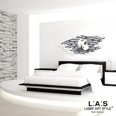 Sacred wall sculptures </br> Code: SI-160 | Size: 165x73 cm </br> Colour: white-charcoal grey-black engraving
