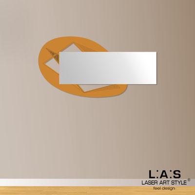 Specchiere </br> Codice: SI-376 | Misura: 145x75 cm </br>  Colore: arancio medio-incisione legno