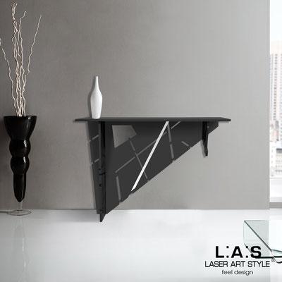 Complementi d'arredo </br> Codice: SI-292 | Misura: 120x40 h80 cm </br> Colore: nero-acciaio inox-incisione tono su tono