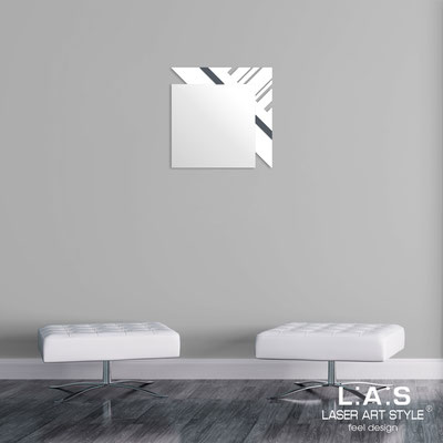 Mirrors </br> Code: SI-358 | Size: 60x60 cm </br>  Colour: white-charcoal grey
