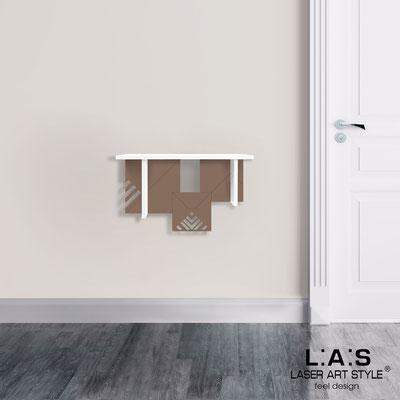 Complementi d'arredo </br> Codice: SI-360 | Misura: 60x30 cm </br> Colore: bianco-grigio marrone-incisione legno