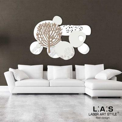 Floral wall sculpture </br> Code: SI-272 | Size: 120x90 cm </br> Colour: white-cream-hazel