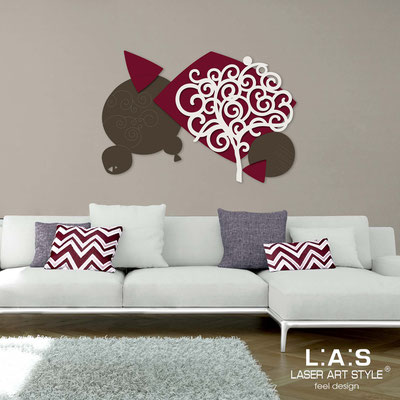 Floral wall sculpture </br> Code: SI-354 | Size: 142x100 cm </br> Colour: brown-burgundy-cream