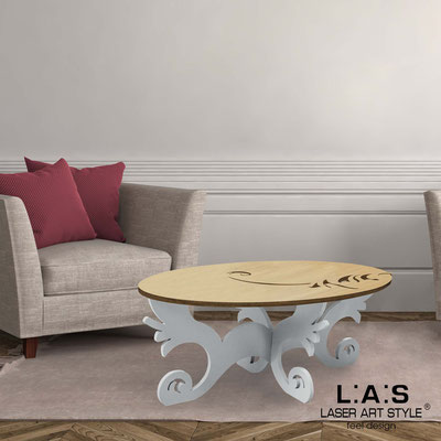 Furnishings </br> Code: MW-289   Size: 100x60 h40 cm </br> Colour: natural wood-concrete grey