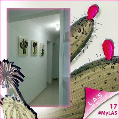 A casa di Alba <br> Abitazione privata | Venezuela </br> Codice: SI-127 | Misura: 45x45 cm/cad </br> Colore: sabbia - decoro piante verde