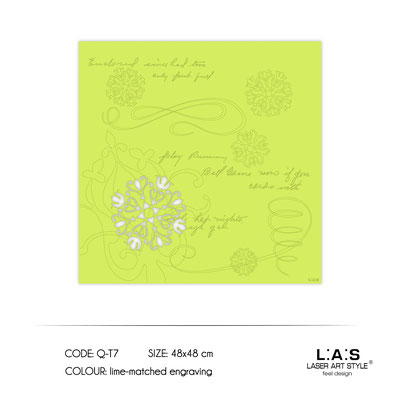 News </br>  Code: Q-T7 | Size: 48x48 cm </br> Colour: lime-matched engraving