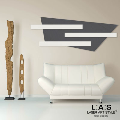 Abstract wall sculptures </br> Code: SI-190 | Size: 180x70 cm </br> Colour: charcoal grey-cream-wood engraving