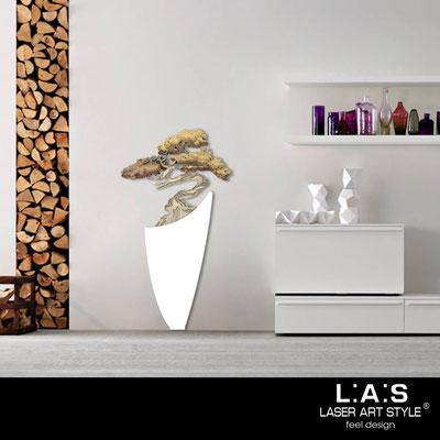 Quadri Floreali </br>  Codice: SI-192-F   Misura: 73x135 cm </br>  Colore: bianco-decoro toni caldi-incisione legno