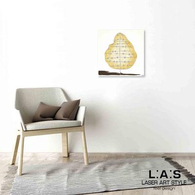 Quarantotto </br>  Codice: Q-002 | Misura: 48x48 cm </br> Colore: decoro senape-incisione legno