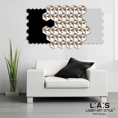 Quadri Astratti </br> Codice: SI-142 | Misura: 125x70 cm </br> Colore: nero-grigio luce-bianco-incisione legno