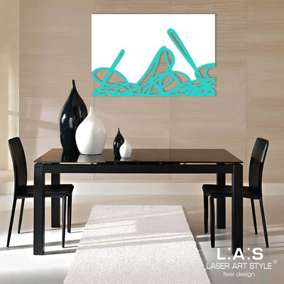 Abstract wall sculptures </br> Code: SI-168 | Size: 150x100 cm </br> Colour: white-turquoise