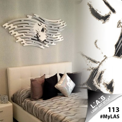 A casa di Salvatore <br> Abitazione privata   Italia </br> Codice: SI-160   Misura: 165x73 cm </br> Colore: bianco - argento - incisione nero