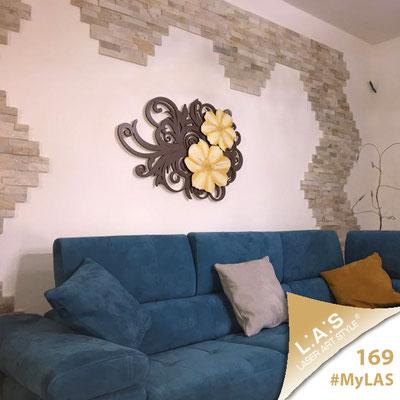 Abitazione privata | Italia </br> Codice: SI-100M | Misura: 100x67 cm </br> Colore: marrone-decoro dorato