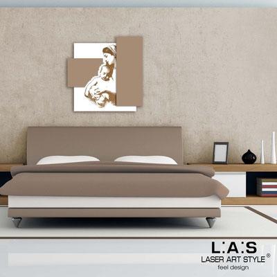 Quadri Sacri </br> Codice:  SI-161 | Misura: 60x60 cm </br>  Colore: bianco-nocciola-incisione legno