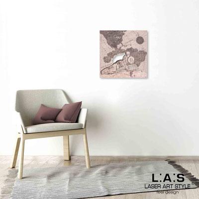 Quarantotto </br>  Codice: Q-030 | Misura: 48x48 cm </br> Colore: decoro ruggine-incisione legno