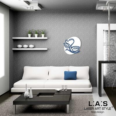 Figurative wall sculpture </br> Code: SI-241L | Size: 63x63 cm </br> Code: SI-241XL | Size: 88x88 cm </br> Colour: white-denim