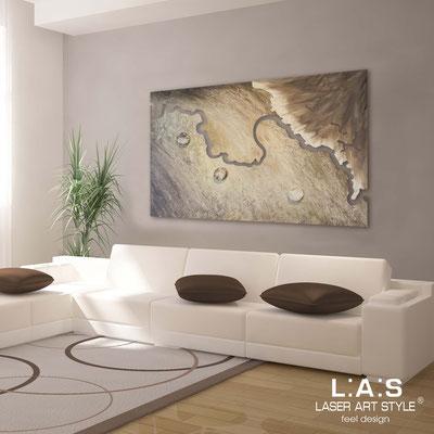 Quadri Astratti </br> Codice: SI-257 | Misura: 150x100 cm </br> Colore: decoro stucco marrone