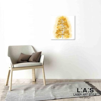 Quarantotto </br>  Codice: Q-004 | Misura: 48x48 cm </br> Colore: decoro senape-incisione legno