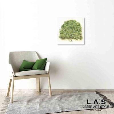 Quarantotto </br>  Codice: Q-006 | Misura: 48x48 cm </br> Colore: decoro verde-incisione legno