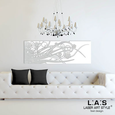 Abstract wall sculptures </br> Code: SI-107-B | Size: 148x50 cm </br> Colour: white-silver