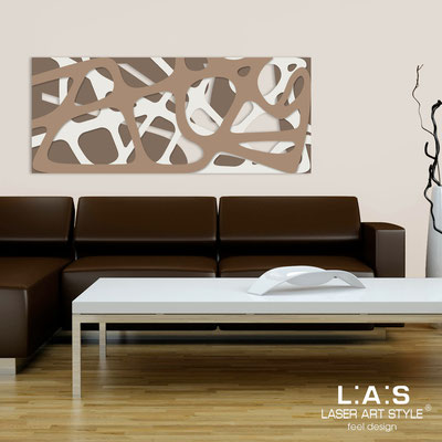 Abstract wall sculptures </br> Code: SI-159 | Size: 140x58 cm </br> Colour: dove grey-cream-hazel