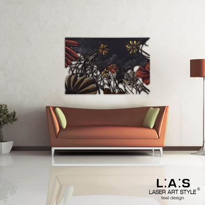 Quadri Floreali </br>  Codice: SI-115   Misura: 150x100 cm </br>  Codice: SI-115M   Misura: 100x67 cm </br>  Colore: decoro bronzato