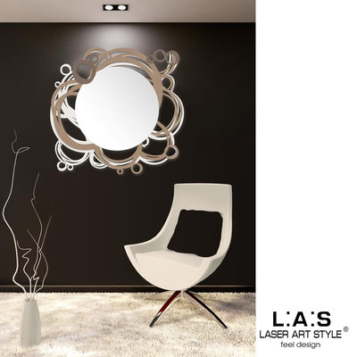 Mirrors </br> Code: SI-204Q-SP | Size: 90x85 cm </br>  Colour: cream-hazel-dove grey