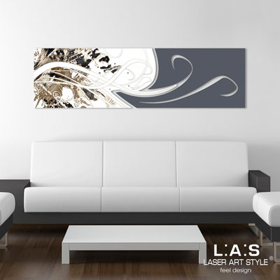 Abstract wall sculptures </br> Code: SI-091-B | Size: 180x58 cm </br> Colour: white-charcoal grey-black engraving