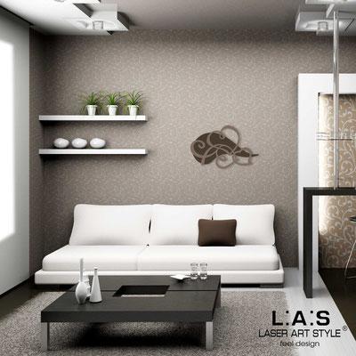 Figurative wall sculpture </br> Code: SI-243L | Size: 66x42 cm </br> Code: SI-243XL | Size: 93x60 cm </br> Colour: brown-dove grey