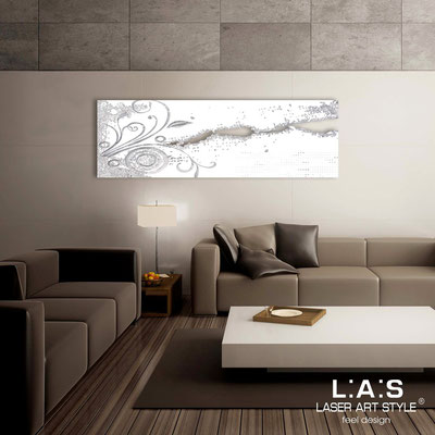 Abstract wall sculptures </br> Code: SI-092-B | Size: 180x58 cm </br> Colour: white-silver leaf decoration-matched engraving