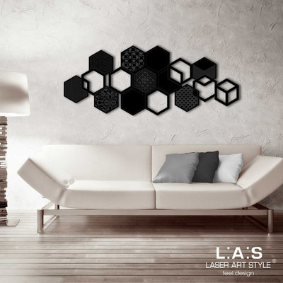 Abstract wall sculptures </br> Code: SI-299 | Size: 150x60 cm </br> Colour: black-matched engraving