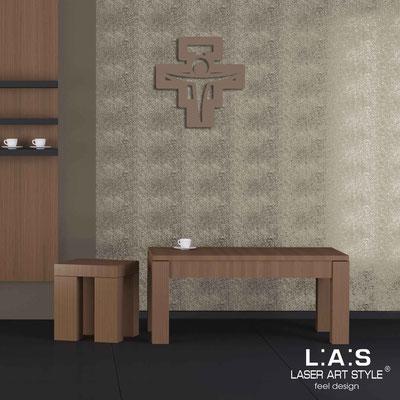 Crucifixes </br> Code: CR23 | Size: 40x40 cm </br> Colour: dove grey