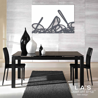 Abstract wall sculptures </br> Code: SI-168 | Size: 150x100 cm </br> Colour: white-charcoal grey
