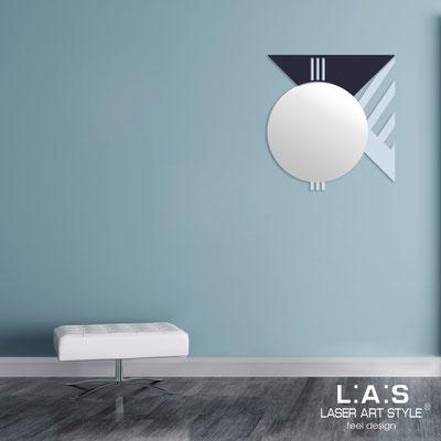 Specchiere </br> Codice: SI-357 | Misura: 70x75 cm </br>  Colore: grigio celeste-blu petrolio
