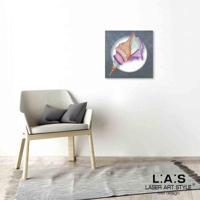 Quarantotto </br>  Codice: Q-033 | Misura: 48x48 cm </br> Colore: decoro multicolor-incisione legno