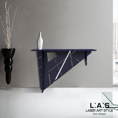 Furnishings </br> Code: SI-292   Size: 120x40 h80 cm </br> Colour: navy blue-inox steel-matched engraving