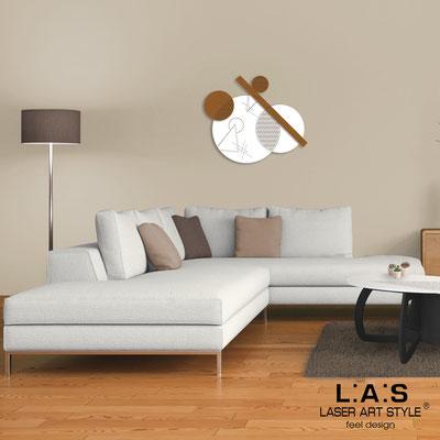 Quadri Astratti </br> Codice: SI-348 | Misura: 85x70 cm </br> Colore: bianco-rame-incisione legno