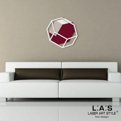 Abstract wall sculptures </br> Code: SI-305 | Size: 60x60 cm </br> Colour: cream-powder-burgundy/cream