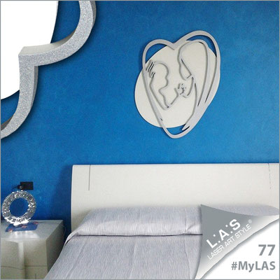 A casa di Alessia <br> Abitazione privata   Italia </br> Codice: SI-227XL   Misura: 70x90 cm </br> Colore: bianco - argento