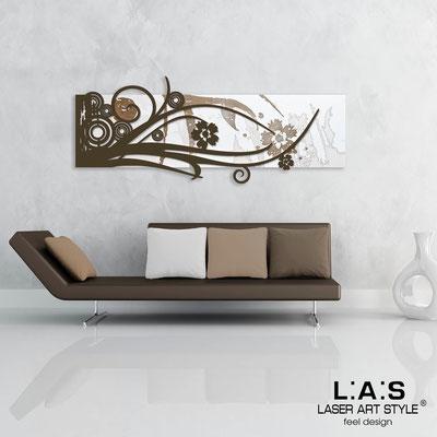 Quadri Astratti </br> Codice: SI-106 | Misura: 148x60 cm </br> Colore: bianco-marrone-incisione legno