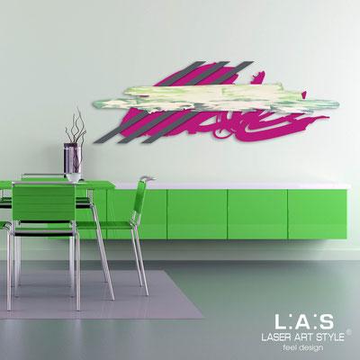 Quadri Astratti </br> Codice: SI-254 | Misura: 180x60 cm </br> Colore: porpora-antracite-decoro verde