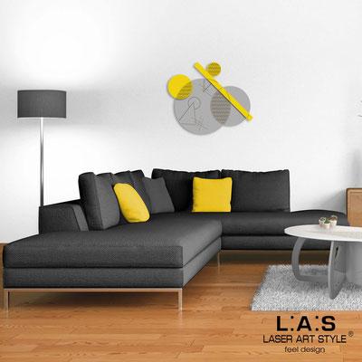 Quadri Astratti </br> Codice: SI-348 | Misura: 85x70 cm </br> Colore: cemento-giallo-incisione legno